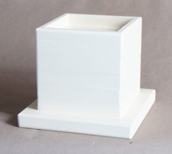 5x5 Pocket, 6 Inch Lift Height, White Antique